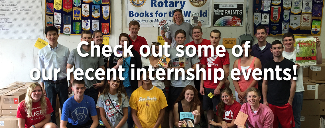 Check out some of our recent internship events!